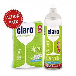 ACTION PACK CLARO leštidlo 1 l a soľ 1,5 kg do umývačky riadu