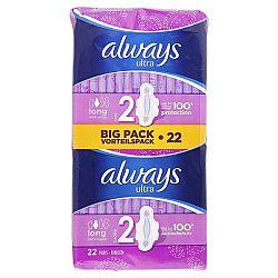 ALWAYS Ultra dámske hygienické vložky s krídelkami Long 2 22 ks