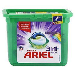 ARIEL Pods 3v1 kapsule na pranie farebného prádla 24 ks