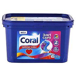 CORAL Optimal color 3v1 kapsule na pranie farebnej bielizne 18 praní