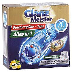 GLANZ MEISTER tablety do umývačky riadu All in 1 Citrón 20 ks