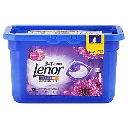 LENOR Pods 3v1 kapsule na farebné pranie Kvetinová vôňa a ametyst 12 ks