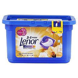 LENOR Pods 3v1 kapsule na farebné pranie Zlatá orchidea 12 ks