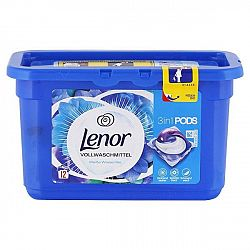 LENOR Pods 3v1 kapsule na univerzálne pranie Biele lekno 12 ks