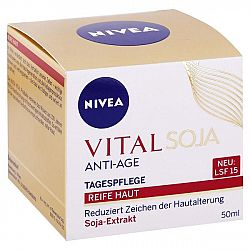NIVEA denný krém proti vráskam SPF 15 Vital Soja 50 ml