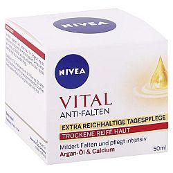 NIVEA denný krém proti vráskam Vital Argánový olej a kalcium 50 ml
