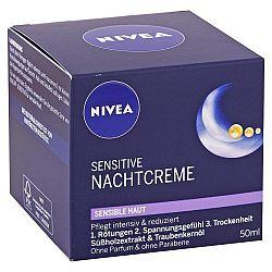 NIVEA nočný krém na citlivú pleť Sensitive 50 ml