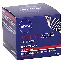 NIVEA nočný krém proti vráskam Vital Soja 50 ml