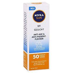 NIVEA Sun ochranný pleťový krém Anti Age na tvár SPF 50 50 ml