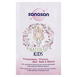 SANOSAN detský sprchový gél a šampón pre dievčatá Vôňa čerešne 40 ml