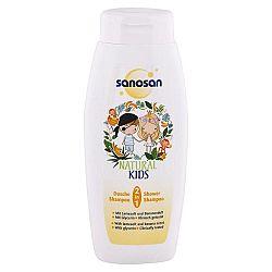 SANOSAN detský sprchový gél a šampón Sensitive Vôňa banánu 250 ml