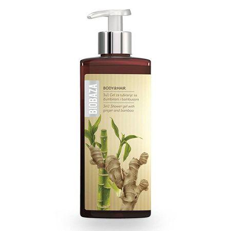 Biobaza BODY and HAIR 3v1 sprchový gél so zázvorom a bambusom 400 ml