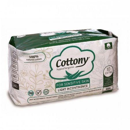 COTTONY inkontinečné vložky z bavlny-extra 10 ks