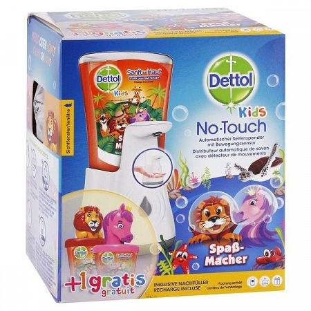 DETTOL tekuté mydlo pre deti a bezdotykový dávkovač s hračkou 250 ml