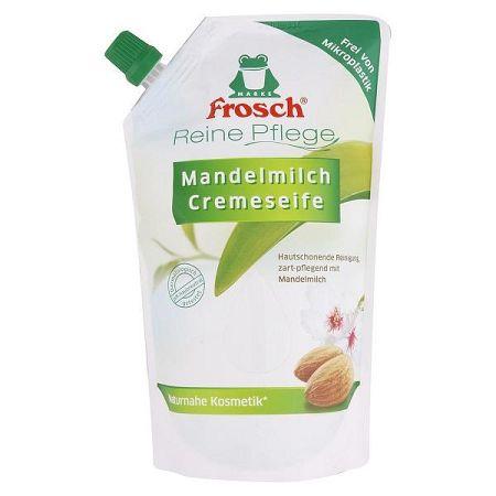 FROSCH BIO krémové tekuté mydlo náhradná náplň Mandľové mlieko 500 ml