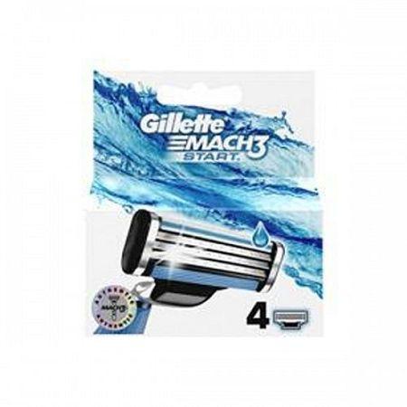 Gillette Mach3 Start náhradné hlavice 4 ks