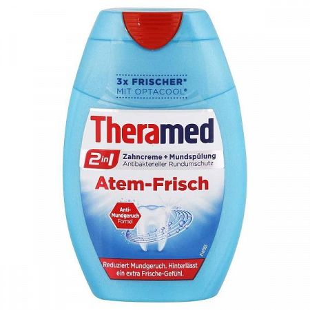 THERAMED Atem Frisch 2v1 zubná pasta pre svieži dych s ústnou vodou 75 ml