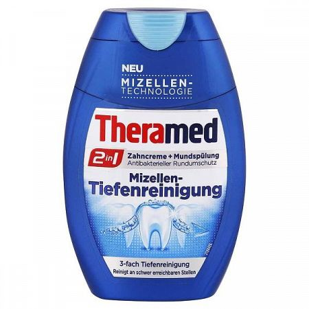 THERAMED zubná pasta s ústnou vodou pre hĺbkove čistenie 75 ml