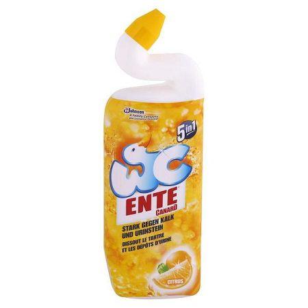 WC ENTE gélový čistič toalety 5v1 Citrus 750 ml