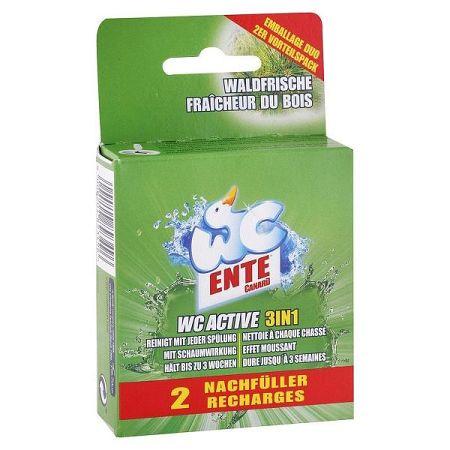 WC ENTE náhradná náplň do WC bloku 3v1 Lesná sviežosť 2 x 40 g